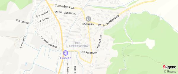 Карта Пригородного села в Чечне с улицами и номерами домов