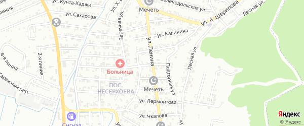 Шатойская улица на карте Пригородного села с номерами домов