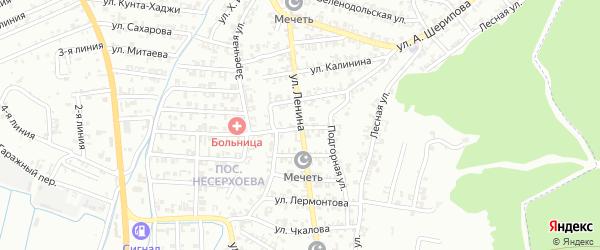 Улица Сахарова на карте Пригородного села с номерами домов