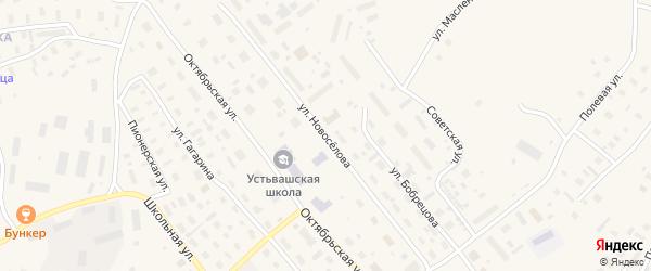 Улица Новоселова на карте Лешуконского села с номерами домов