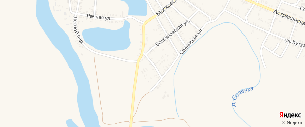 2-я Озерская улица на карте села Капустина Яра с номерами домов