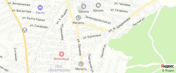 Улица Калинина на карте Пригородного села с номерами домов