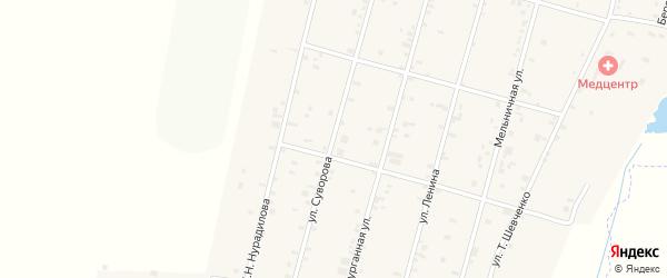 Улица Суворова на карте села Толстого-Юрта с номерами домов