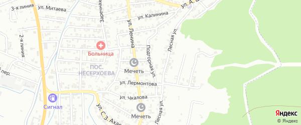 Подгорная улица на карте Пригородного села с номерами домов