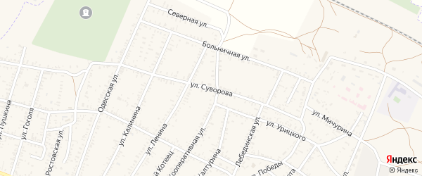 Улица Суворова на карте села Капустина Яра с номерами домов