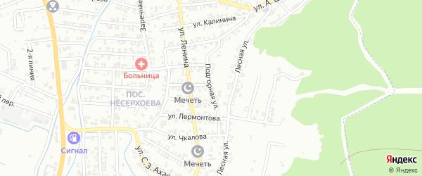 Подгорная улица на карте Грозного с номерами домов