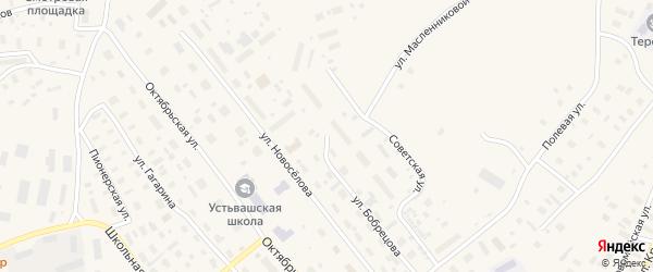 Улица Бобрецова на карте Лешуконского села с номерами домов