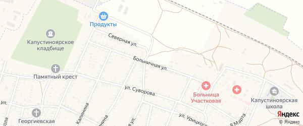 Больничная улица на карте села Капустина Яра с номерами домов