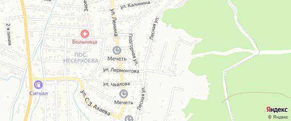 Лесная улица на карте Пригородного села с номерами домов