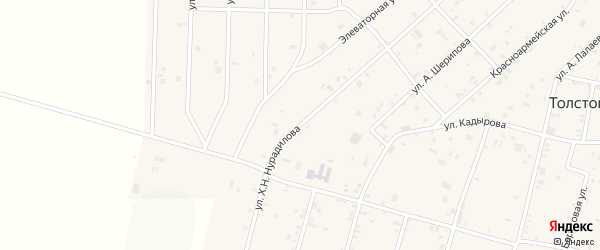Улица Х.Нурадилова на карте села Толстого-Юрта с номерами домов
