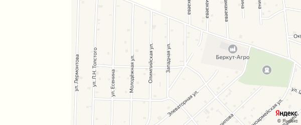 Олимпийская улица на карте села Толстого-Юрта с номерами домов