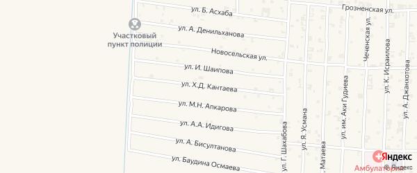 Академическая улица на карте села Чечен-Аул с номерами домов