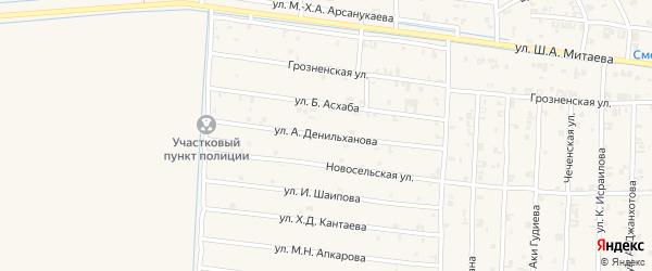 Трудовая улица на карте села Чечен-Аул с номерами домов