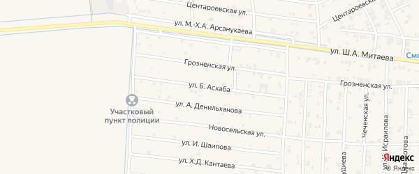 Горная улица на карте села Чечен-Аул с номерами домов
