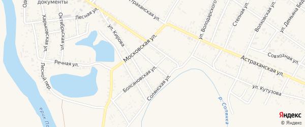 Ахтубинская улица на карте села Капустина Яра с номерами домов