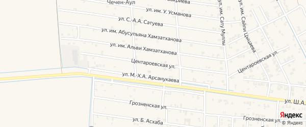 Январская улица на карте села Чечен-Аул с номерами домов