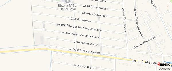 Февральская улица на карте села Чечен-Аул с номерами домов