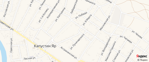 Улица 12 Декабря на карте села Капустина Яра с номерами домов