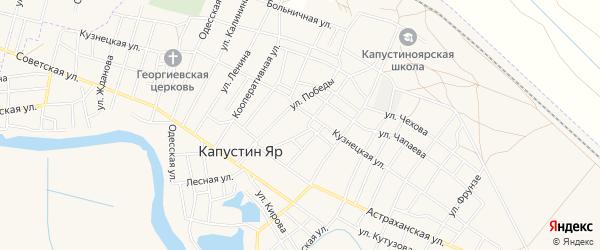 СТ СОТ Меридиан на карте села Капустина Яра с номерами домов