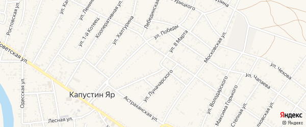 Улица Жлобина на карте села Капустина Яра с номерами домов