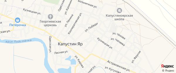 СТ СОТ Мечта на карте села Капустина Яра с номерами домов