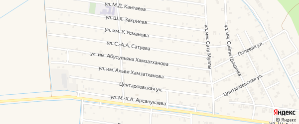 Мартовская улица на карте села Чечен-Аул с номерами домов