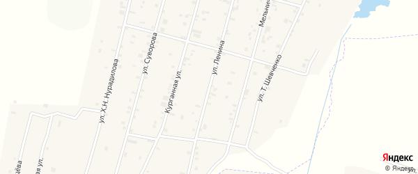 Улица Ленина на карте села Толстого-Юрта с номерами домов