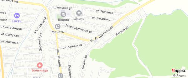 Улица А.Шерипова на карте Пригородного села с номерами домов
