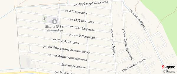 Республиканская улица на карте села Чечен-Аул с номерами домов