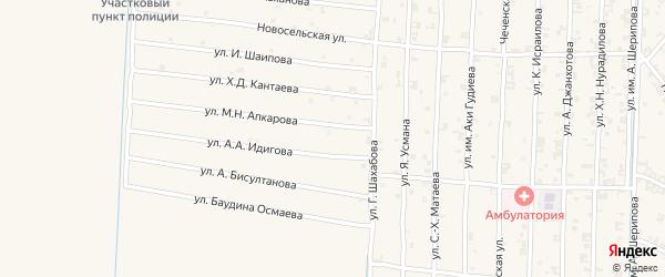 Восточная улица на карте поселка Гикало с номерами домов