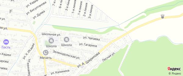 Улица Чапаева на карте Пригородного села с номерами домов