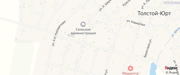 Улица А.Мамакаева на карте села Толстого-Юрта с номерами домов