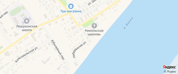 Набережная улица на карте Лешуконского села с номерами домов