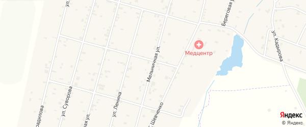 Мельничная улица на карте села Толстого-Юрта с номерами домов