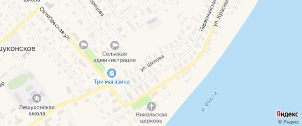 Улица Шилова на карте Лешуконского села с номерами домов