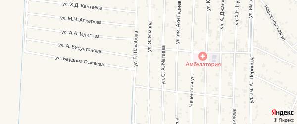 Сроительная улица на карте села Чечен-Аул с номерами домов