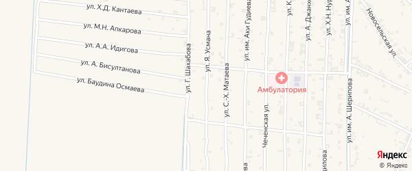 Строительная улица на карте поселка Гикало с номерами домов