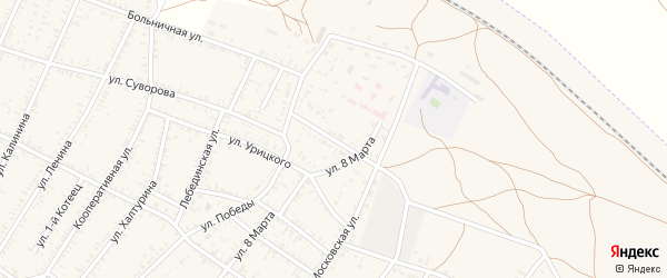 Улица Мичурина на карте села Капустина Яра с номерами домов