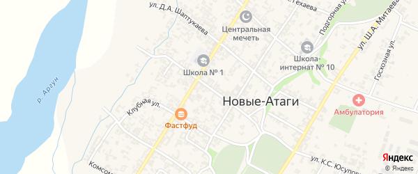Улица М.Умарова на карте села Новые-Атаги с номерами домов