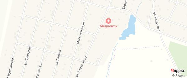 Улица Шевченко на карте села Толстого-Юрта с номерами домов