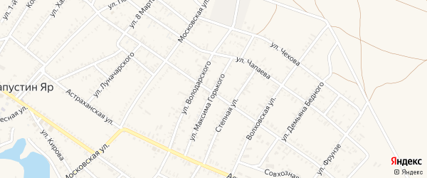 Улица М.Горького на карте села Капустина Яра с номерами домов