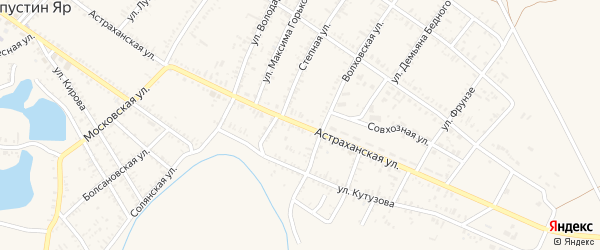 Астраханская улица на карте села Капустина Яра с номерами домов