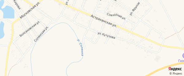 Первомайская улица на карте села Капустина Яра с номерами домов