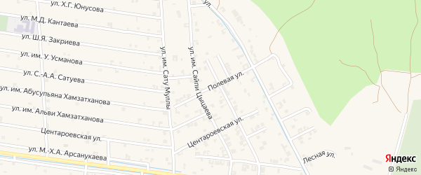 Степная улица на карте села Чечен-Аул с номерами домов