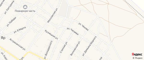 Улица Чапаева на карте села Капустина Яра с номерами домов