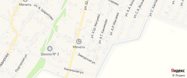 Улица А.В.Эльмурзаева на карте села Новые-Атаги с номерами домов