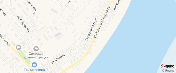 Первомайская улица на карте Лешуконского села с номерами домов