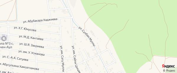 Лесная улица на карте Грозного с номерами домов