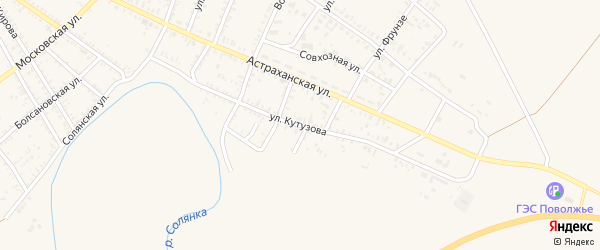 Улица Кутузова на карте села Капустина Яра с номерами домов