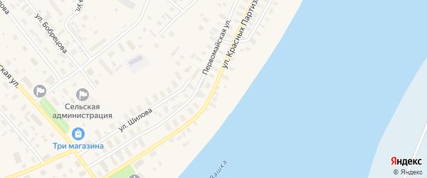 Улица Красных партизан на карте Лешуконского села с номерами домов